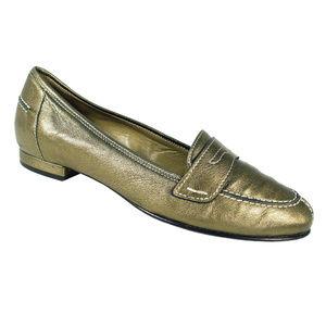 ANYI LU Olivia Metallic Italian Penny Loafers